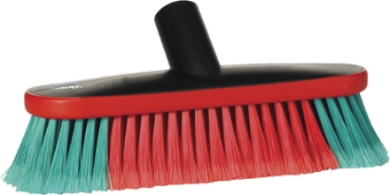 Vikan Vehicle Brush, waterfed, 270 mm, Soft/split, Black